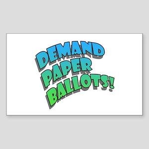 Demand Paper Ballots! Rectangle Sticker