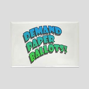 Demand Paper Ballots! Rectangle Magnet
