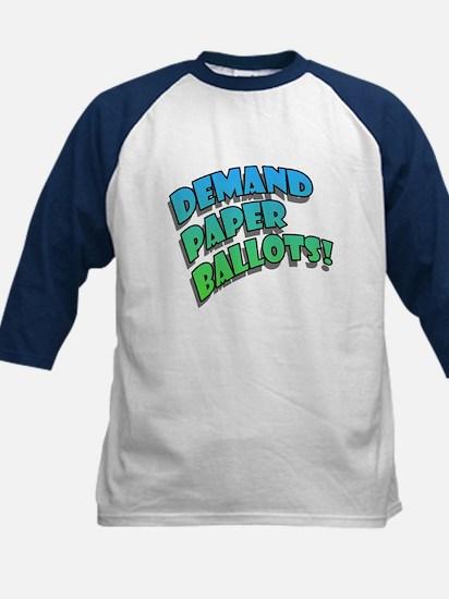 Demand Paper Ballots! Kids Baseball Jersey