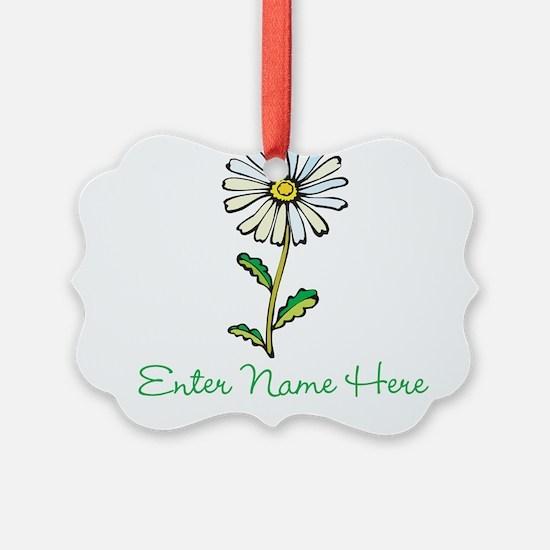 Personalized Daisy Ornament
