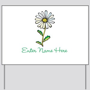Personalized Daisy Yard Sign