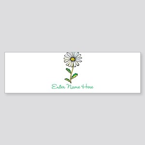 Personalized Daisy Sticker (Bumper)