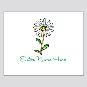 Personalized Daisy Small Poster