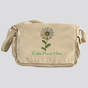 Personalized Daisy Messenger Bag