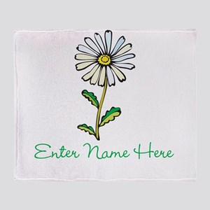 Personalized Daisy Throw Blanket