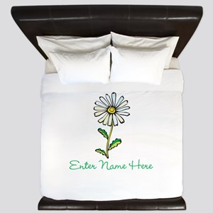 Personalized Daisy King Duvet