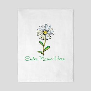 Personalized Daisy Twin Duvet