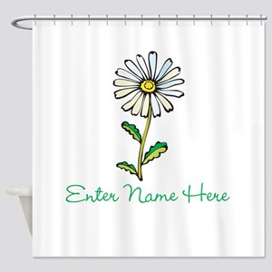 Personalized Daisy Shower Curtain