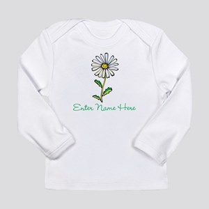 Personalized Daisy Long Sleeve Infant T-Shirt