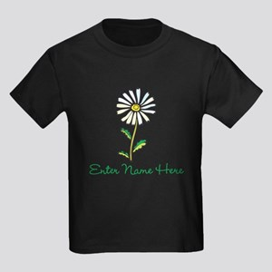 Personalized Daisy Kids Dark T-Shirt