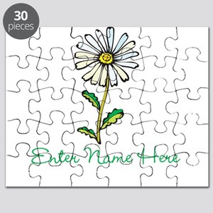 Personalized Daisy Puzzle