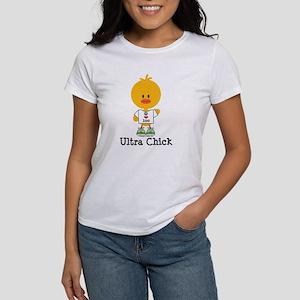 Ultra Chick Peace Love 100 Women's T-Shirt