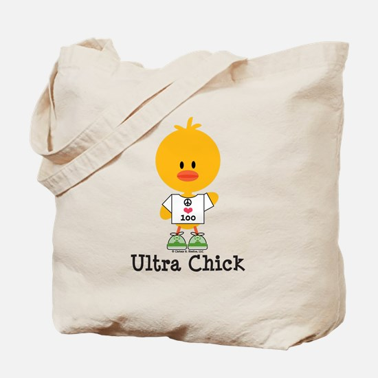Ultra Chick Peace Love 100 Tote Bag