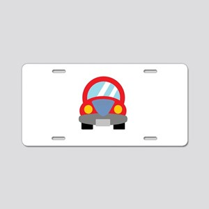 Red Car Aluminum License Plate