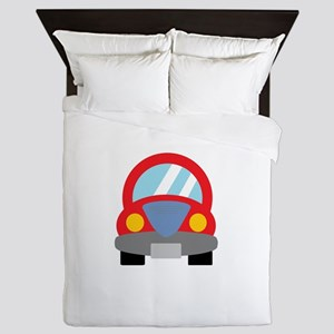 Red Car Queen Duvet