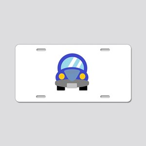 Blue Car Aluminum License Plate