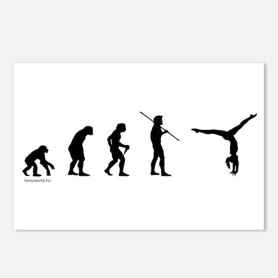Gymnast Evolution7 Postcards (Package of 8)