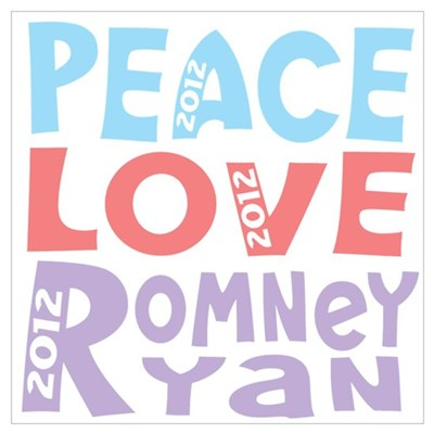 peace love romney ryan Wall Art Poster