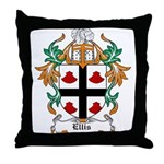 Ellis Coat of Arms Throw Pillow