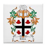 Ellis Coat of Arms Tile Coaster
