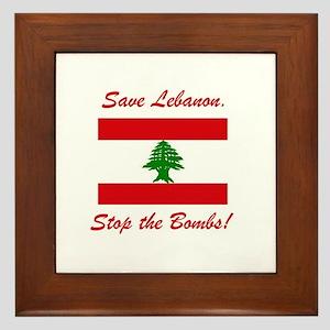 Save Lebanon Framed Tile