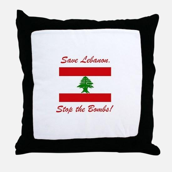 Save Lebanon Throw Pillow