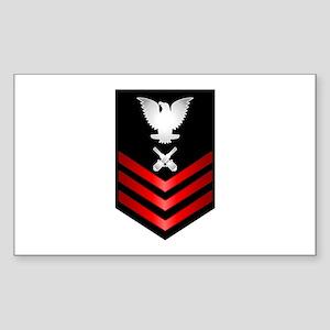 Navy Gunner's Mate First Class Sticker (Rectangle)
