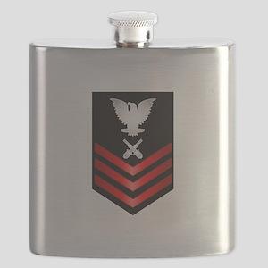 Navy Gunner's Mate First Class Flask