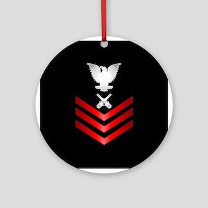Navy Gunner's Mate First Class Ornament (Round)