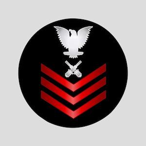 """Navy Gunner's Mate First Class 3.5"""" Button"""