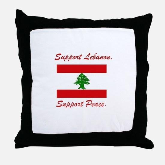 Support Lebanon Throw Pillow