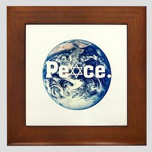 Support Israel Framed Tile