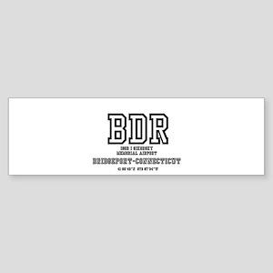 AIRPORT CODES - BDR - SIKORSKY, BRI Bumper Sticker