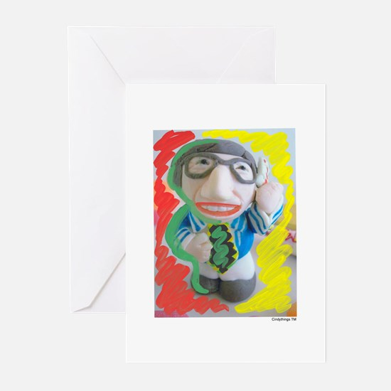 Pop Kreskin (red/yel) Greeting Cards (Pk of 10