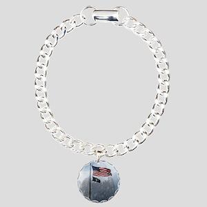 flag_eagle Charm Bracelet, One Charm