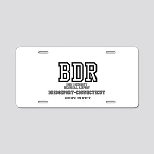AIRPORT CODES - BDR - SIKOR Aluminum License Plate