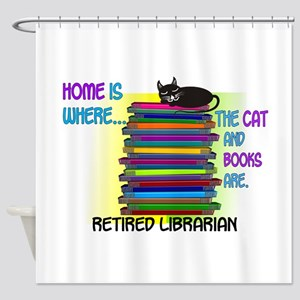 Retired Librarian Home is where Cat books Show