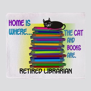 Retired Librarian Home is where Cat books Sta