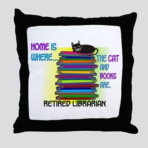 Retired Librarian Home is where Cat books Thro