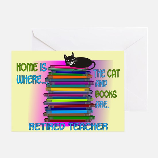 Retired teacher blanket size.PNG Greeting Card