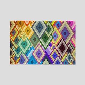 Color Art Rectangle Magnet