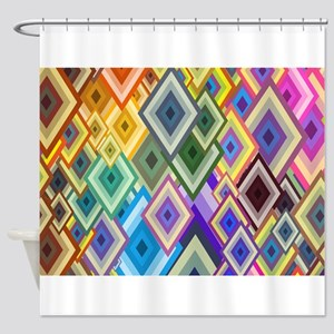 Color Art Shower Curtain