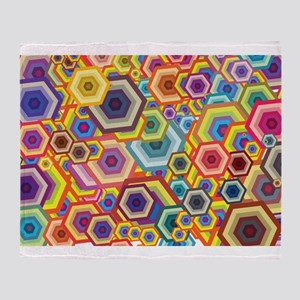 Abstract Colors Throw Blanket
