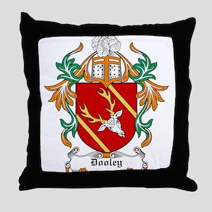 Dooley Coat of Arms Throw Pillow