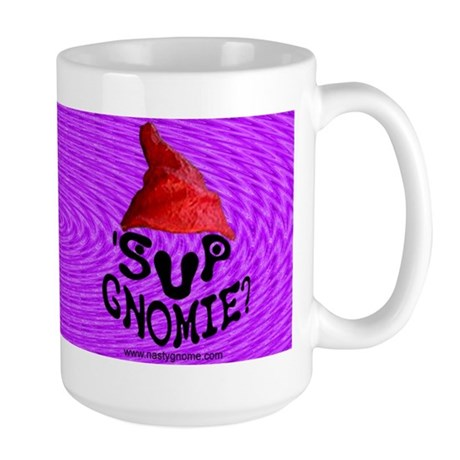 'Sup Gnomie - Large Mug - Purple