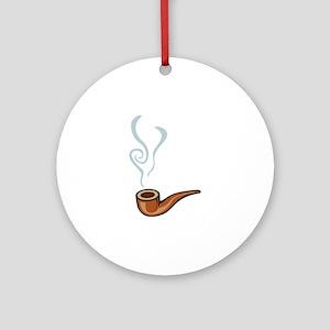 Smoking Ornament (Round)