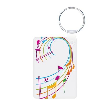 Music Art Aluminum Photo Keychain
