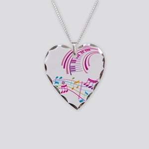 Music Art Necklace Heart Charm