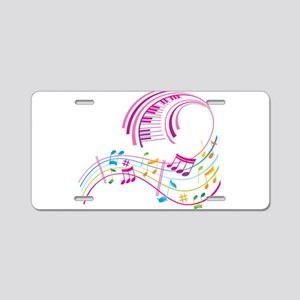 Music Art Aluminum License Plate