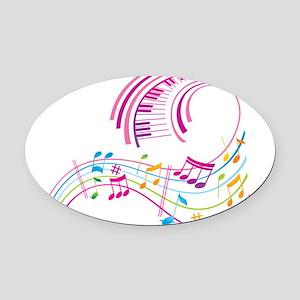 Music Art Oval Car Magnet